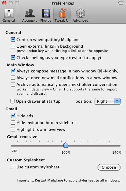 mailplane 11 Mailplane: Почтовый клиент для Gmail
